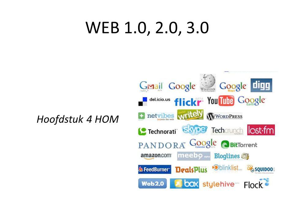 Hoofdstuk 4 HOM WEB 1.0, 2.0, 3.0