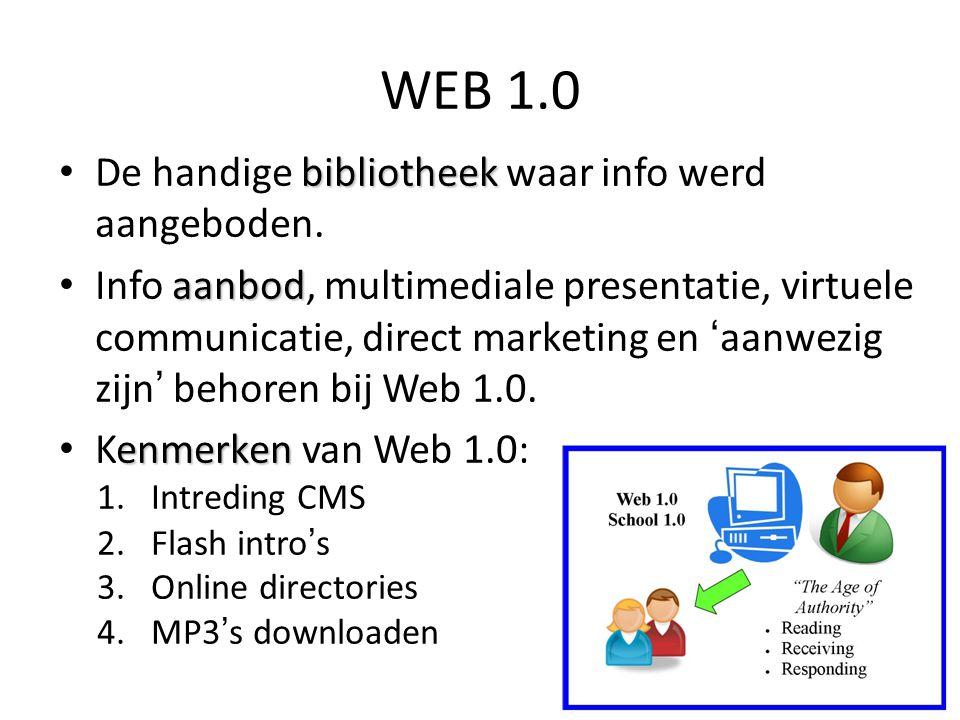 WEB 1.0 NAAR WEB 2.0