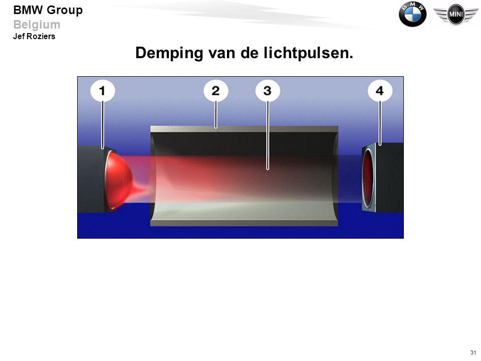 31 BMW Group Belgium Jef Roziers Demping van de lichtpulsen.