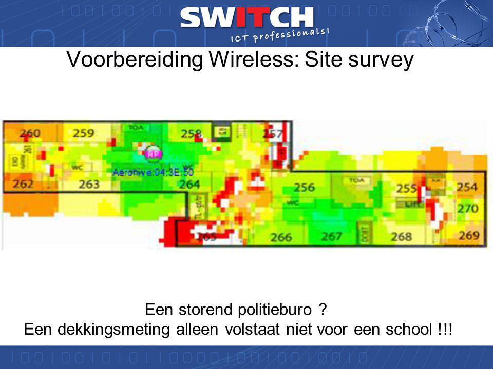 Twentse Carmel Scholen Oude wireless systeem werkte niet goed.