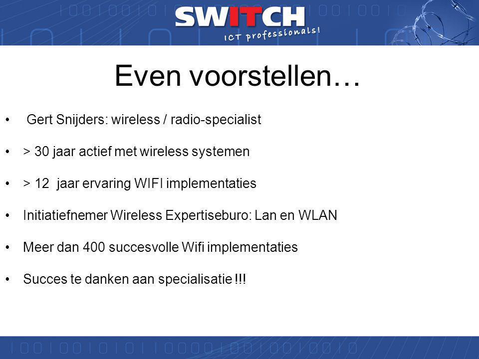 Workshop ICT Noord 2011 Draadloos werken in school. g.snijders@switch.nl