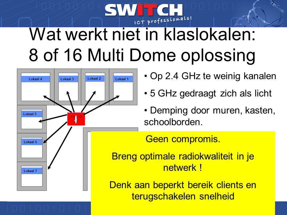 Wat werkt niet in de school: Single channel oplossingen !!.