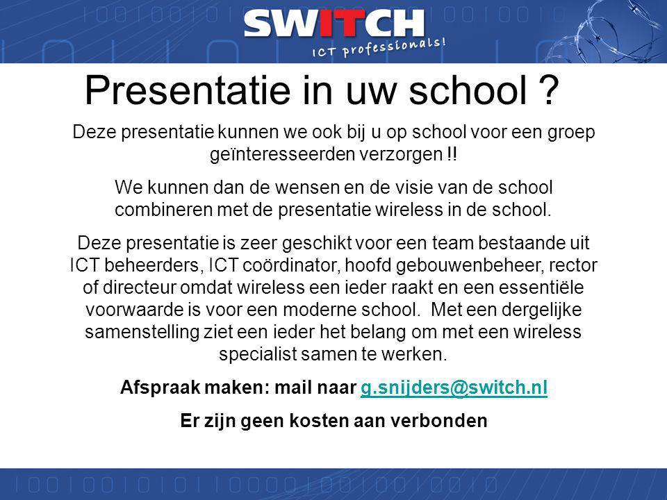 Referenties ICT Noord Diverse scholen die lid zijn van ICT Noord maken al gebruik van onze wireless oplossingen.