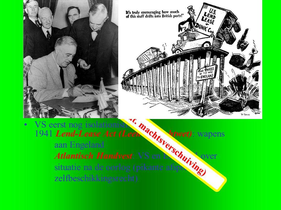1.1 •4e Fase: Monsterverbond; Westen & USSR (1941-1945) •01-09-1939 Duitse aanval op Polen => Officieel begin W.O.