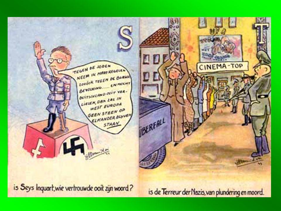 1.3 •Rijkscommissaris voor Nederland: Seyss Inquart •Bestuur: fluwelen aanpak •Gelijkschakeling