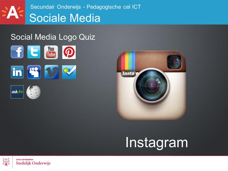 Secundair Onderwijs - Pedagogische cel ICT Sociale Media Instagram Social Media Logo Quiz