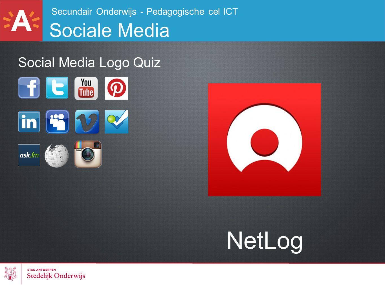 Secundair Onderwijs - Pedagogische cel ICT Sociale Media NetLog Social Media Logo Quiz