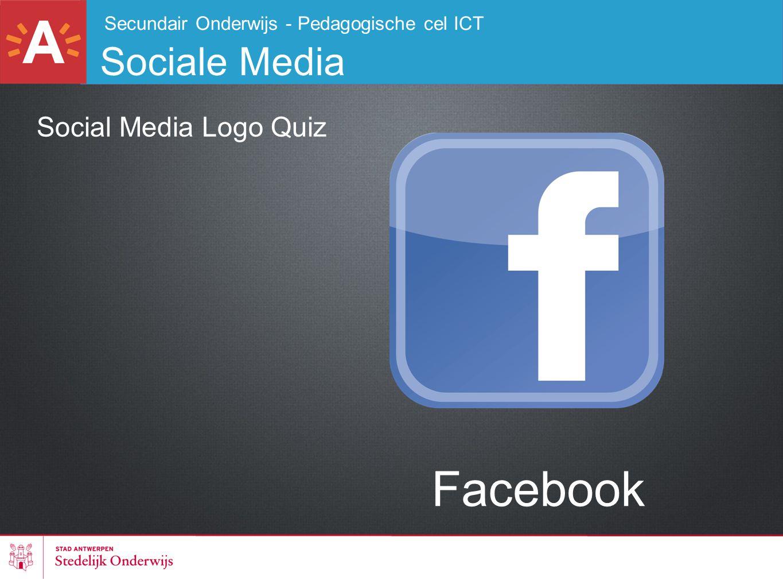 Secundair Onderwijs - Pedagogische cel ICT Sociale Media Social Media Logo Quiz Facebook