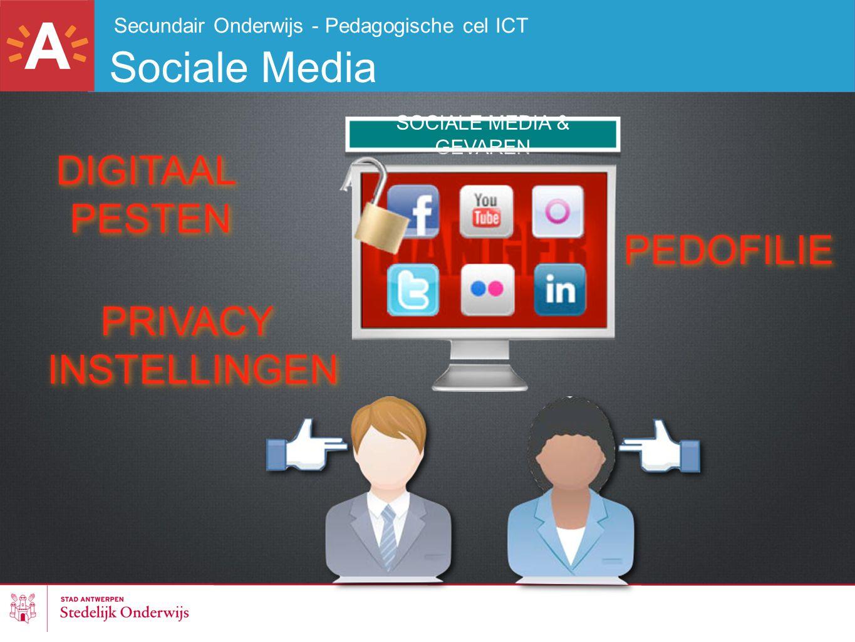 Secundair Onderwijs - Pedagogische cel ICT Sociale Media SOCIALE MEDIA & GEVAREN DIGITAAL PESTEN DIGITAAL PESTEN PEDOFILIE PRIVACY INSTELLINGEN PRIVAC
