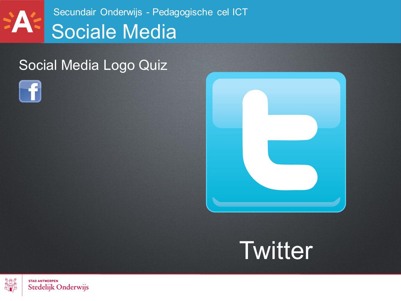 Secundair Onderwijs - Pedagogische cel ICT Sociale Media Twitter Social Media Logo Quiz