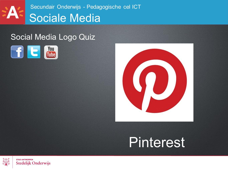 Secundair Onderwijs - Pedagogische cel ICT Sociale Media Pinterest Social Media Logo Quiz