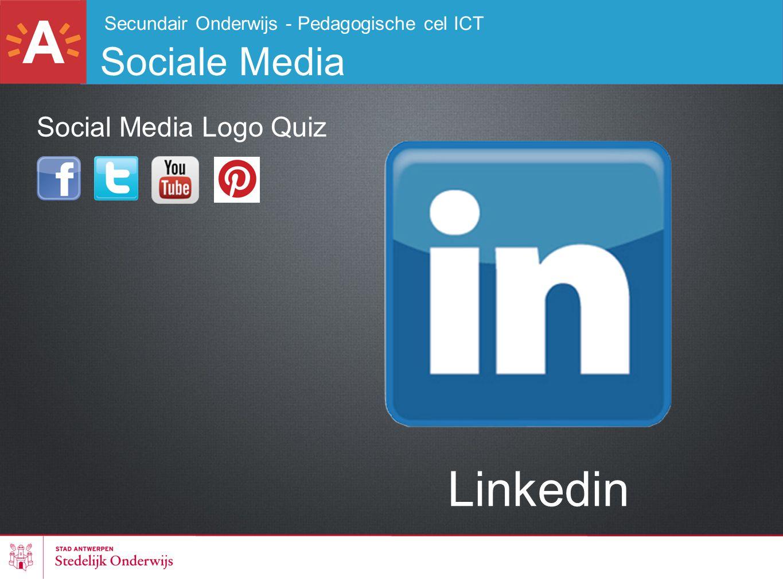 Secundair Onderwijs - Pedagogische cel ICT Sociale Media Linkedin Social Media Logo Quiz