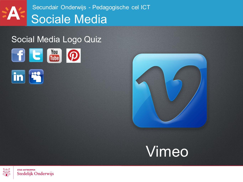 Secundair Onderwijs - Pedagogische cel ICT Sociale Media Vimeo Social Media Logo Quiz