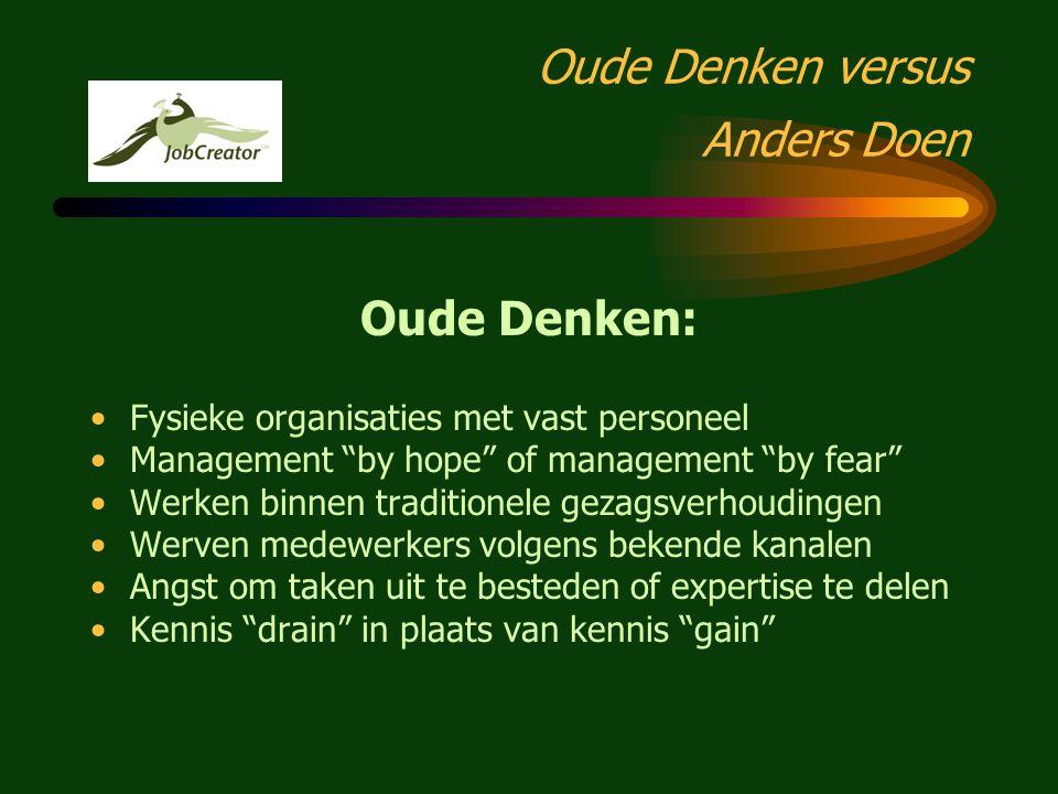 """Anders Denken = Anders Doen! VERNIEUWEND ONDERNEMEN EN NETWERKEN """"New roads towards the Labour Market: web based employment services of the JobCreator"""