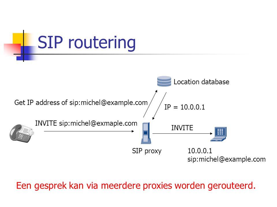 SIP registratie  Een SIP adres is niet gebonden aan een IP adres.