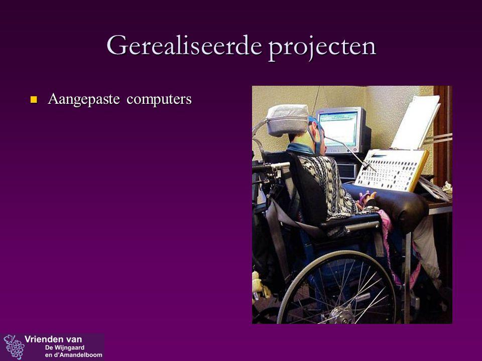 Gerealiseerde projecten  Aangepaste computers