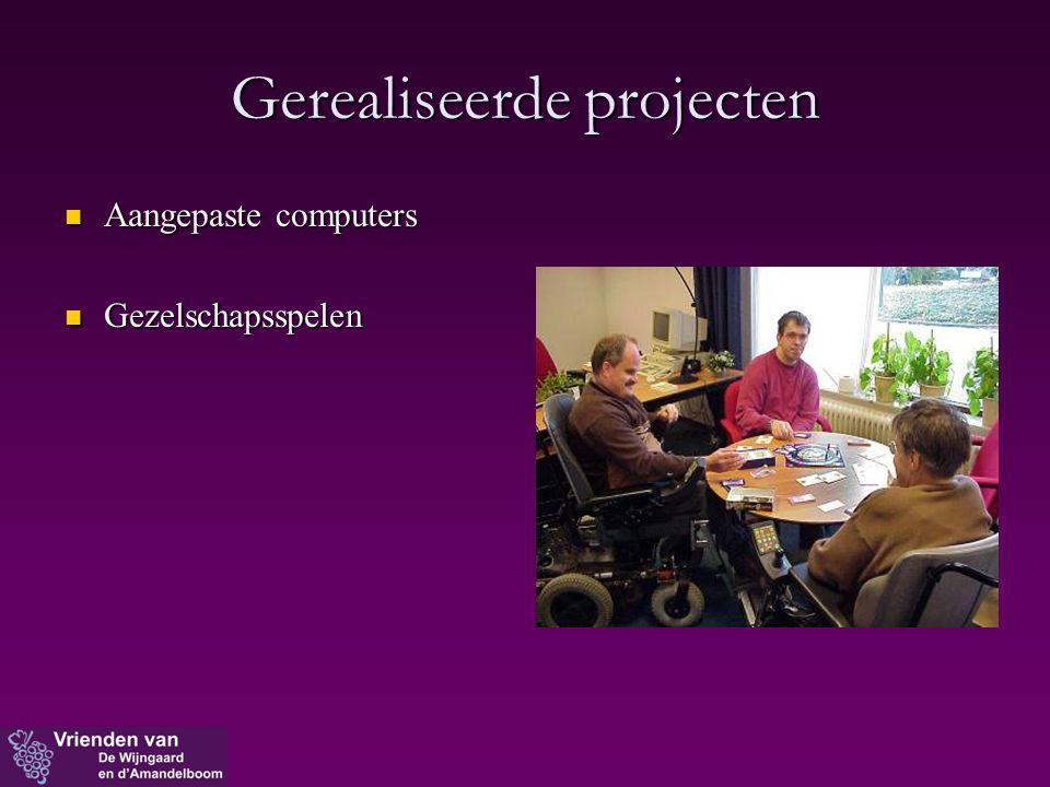 Gerealiseerde projecten  Aangepaste computers  Gezelschapsspelen