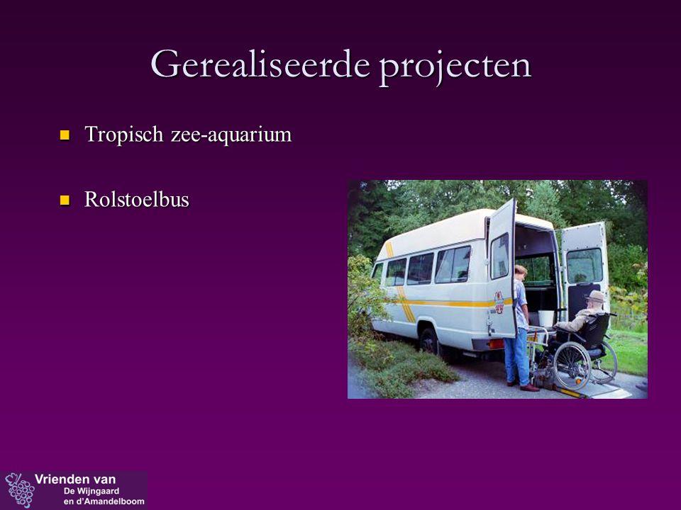 Gerealiseerde projecten  Tropisch zee-aquarium  Rolstoelbus