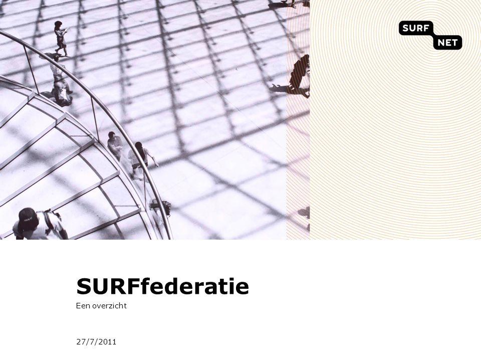 27/7/2011 SURFfederatie Een overzicht