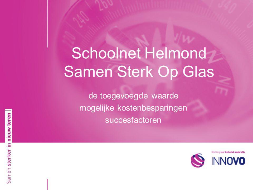 Schoolnet Helmond Samen Sterk Op Glas de toegevoegde waarde mogelijke kostenbesparingen succesfactoren