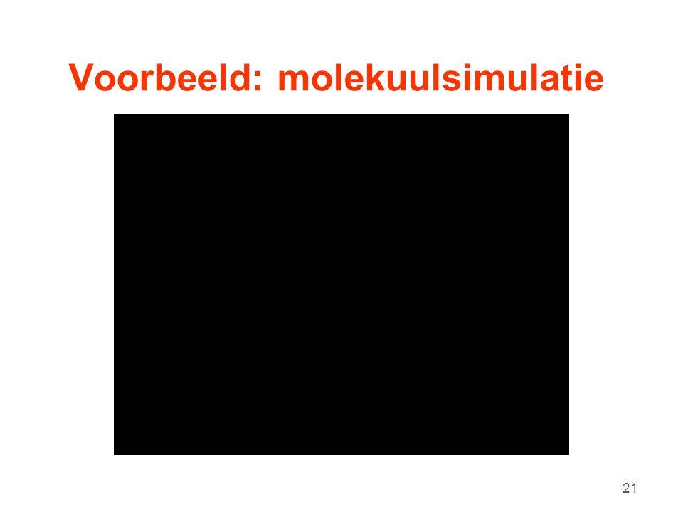 21 Voorbeeld: molekuulsimulatie