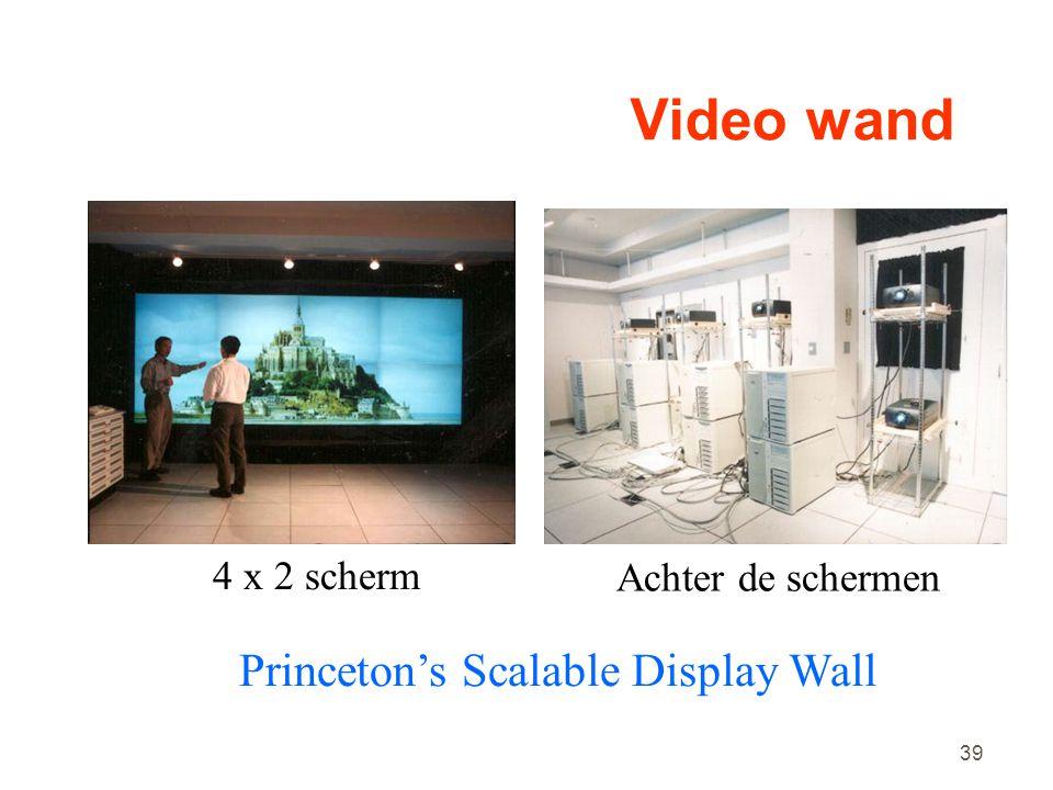 39 Video wand 4 x 2 scherm Achter de schermen Princeton's Scalable Display Wall