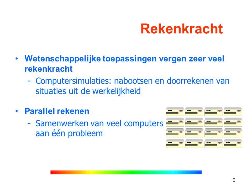 16 Toekomstige computersystemen •Interactieve toepassingen op lokaal cluster •Grootschalig parallel rekenen op meerdere clusters •DAS & DAS-2: -Prototypes gedistribueerde clustercomputers van de onderzoekschool ASCI