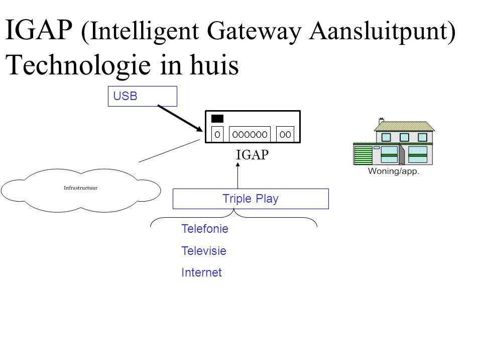 IGAP (Intelligent Gateway Aansluitpunt) Technologie in huis Triple Play USB Telefonie Televisie Internet IGAP