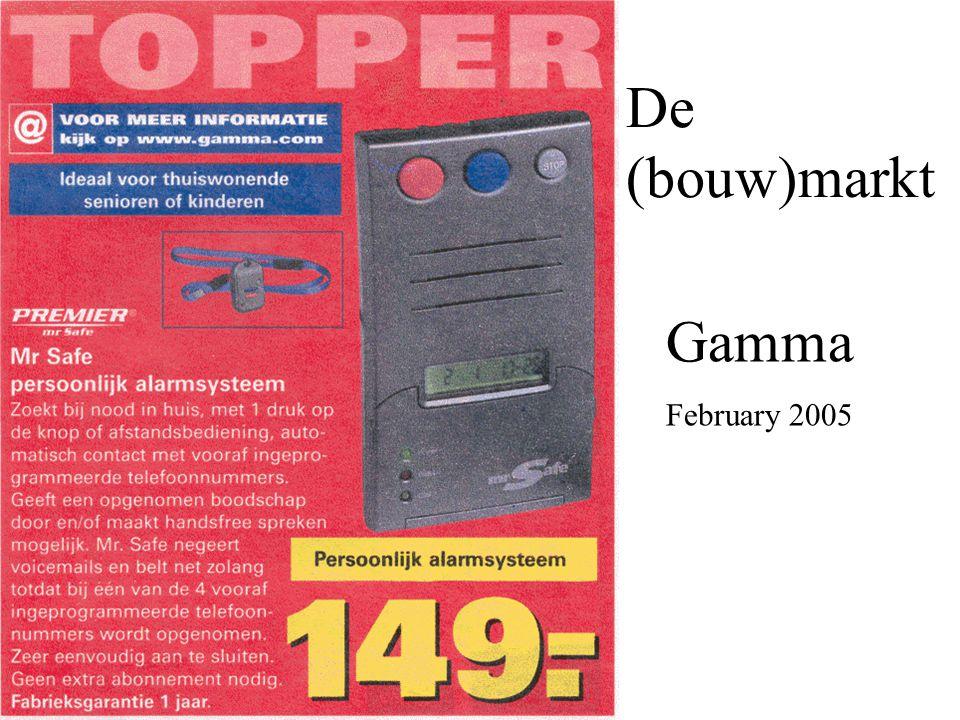 Gamma February 2005 De (bouw)markt