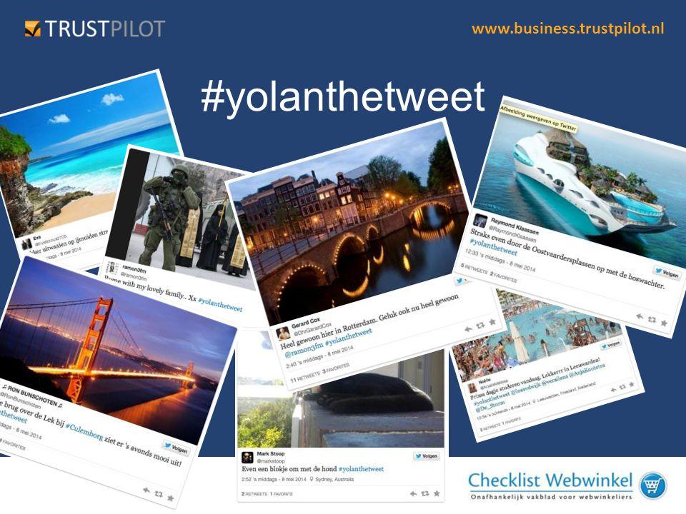 www.business.trustpilot.nl Breng je merk in beweging •Toon Engagement: Social is een voortdurende relatie •Zet de klant centraal – vraag om feedback •Social Media is meer dan een wervingstool •Wees transparant