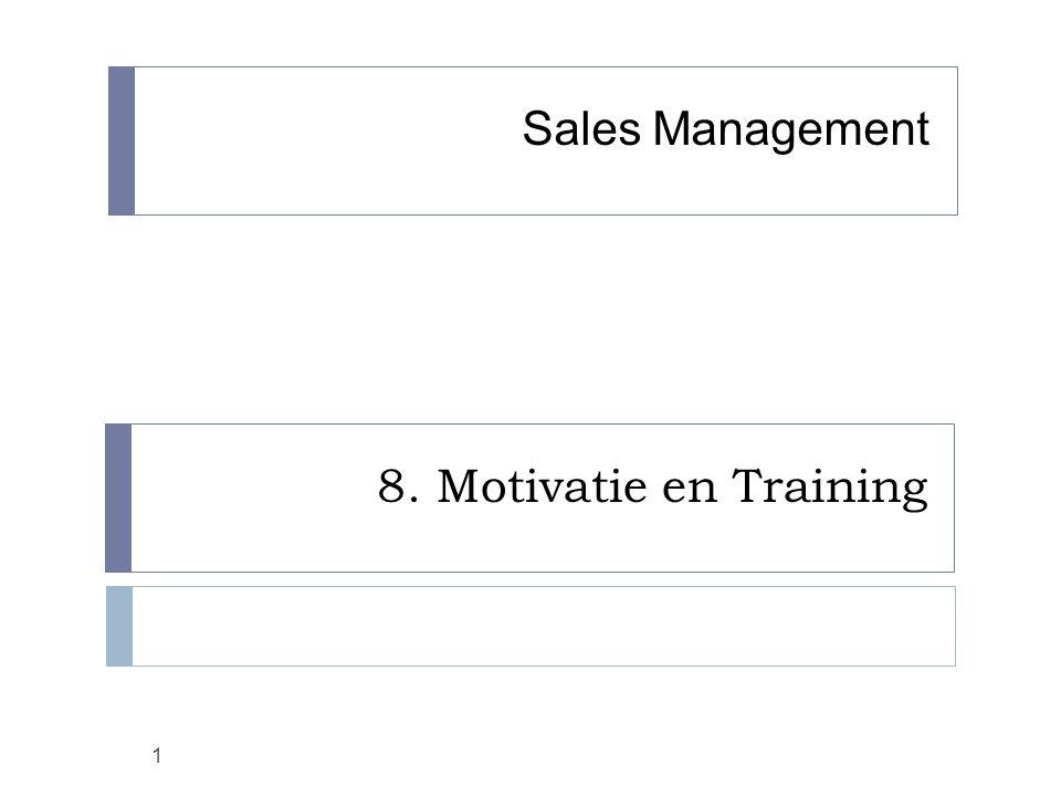 8. Motivatie en Training 1 Sales Management