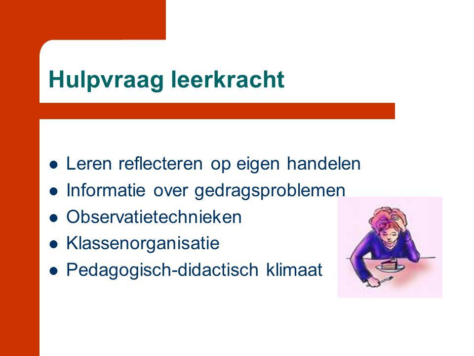 Op zoek naar oorzaken  Omgevingskenmerken  Kindkenmerken  Begrip en richtlijn voor hulpvraag