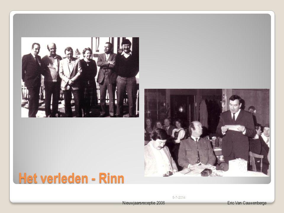 Nieuwjaarsreceptie 2006Eric Van Cauwenberge Het verleden - Rinn 5-7-2014