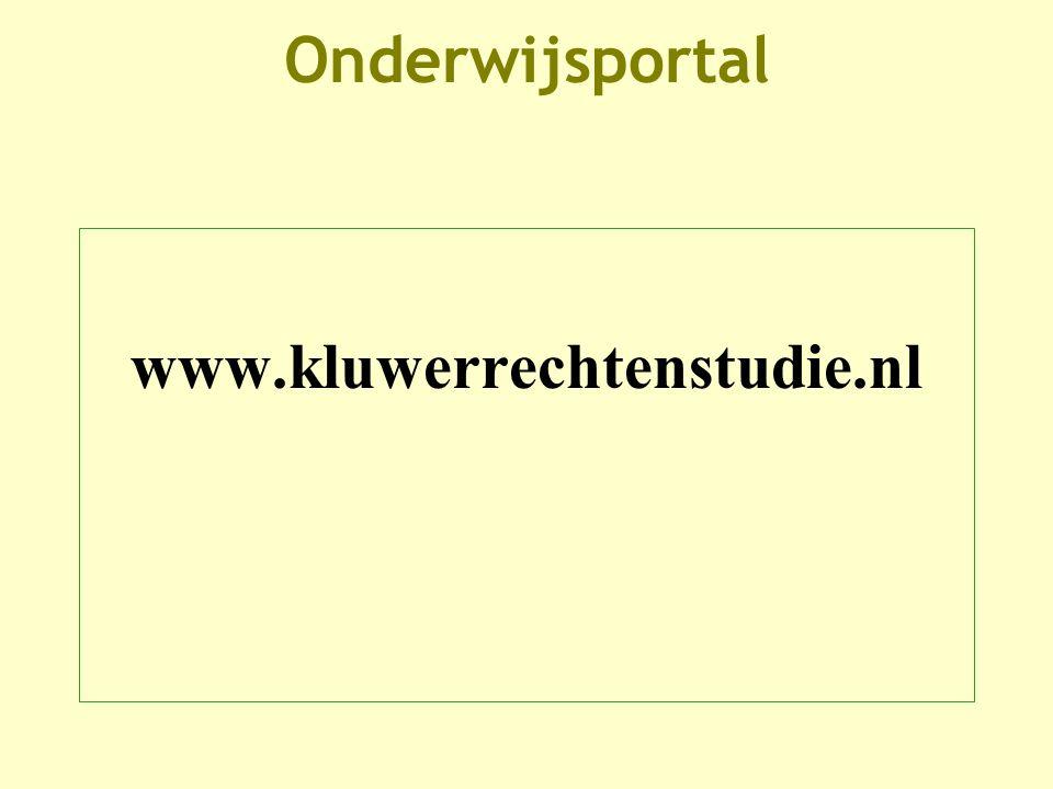 Onderwijsportal www.kluwerrechtenstudie.nl