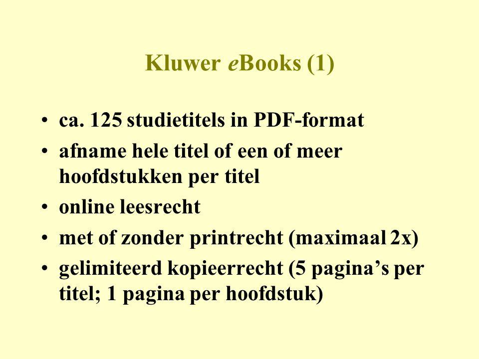 eLearning •eigen ontwikkelingsstudio van Kluwer •V&A / opdrachten / gaming / video etc.