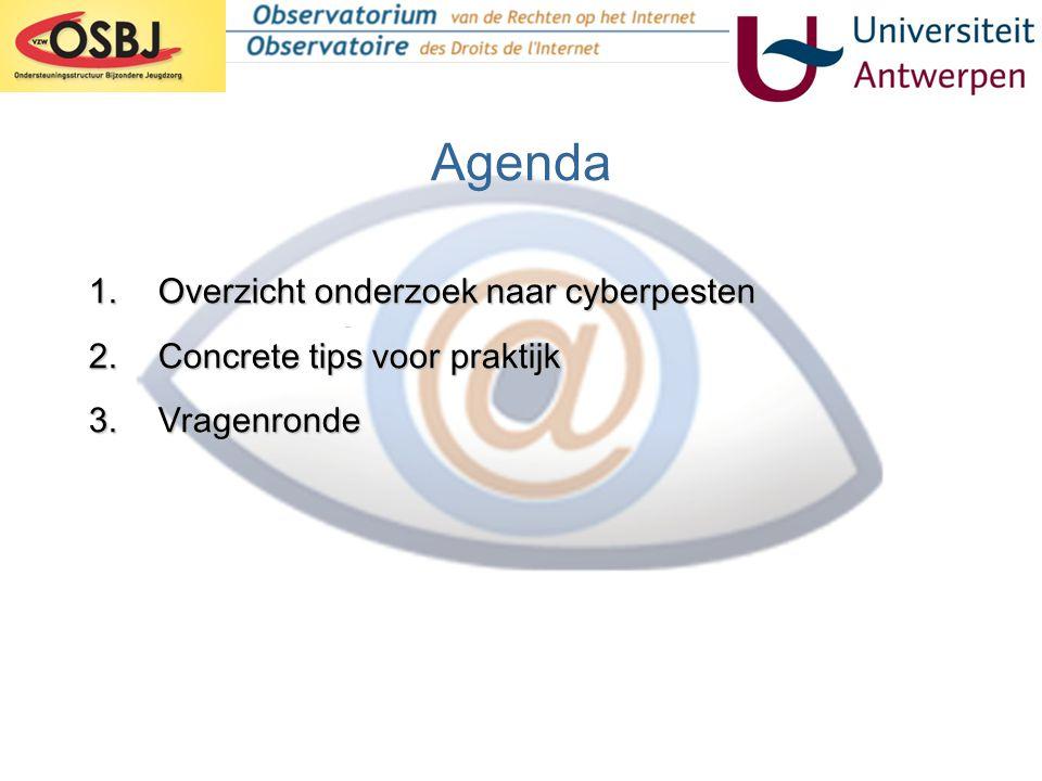 Cyberpesten OSC – Universiteit Antwerpen •Ontstaan: 2004 •Prof.