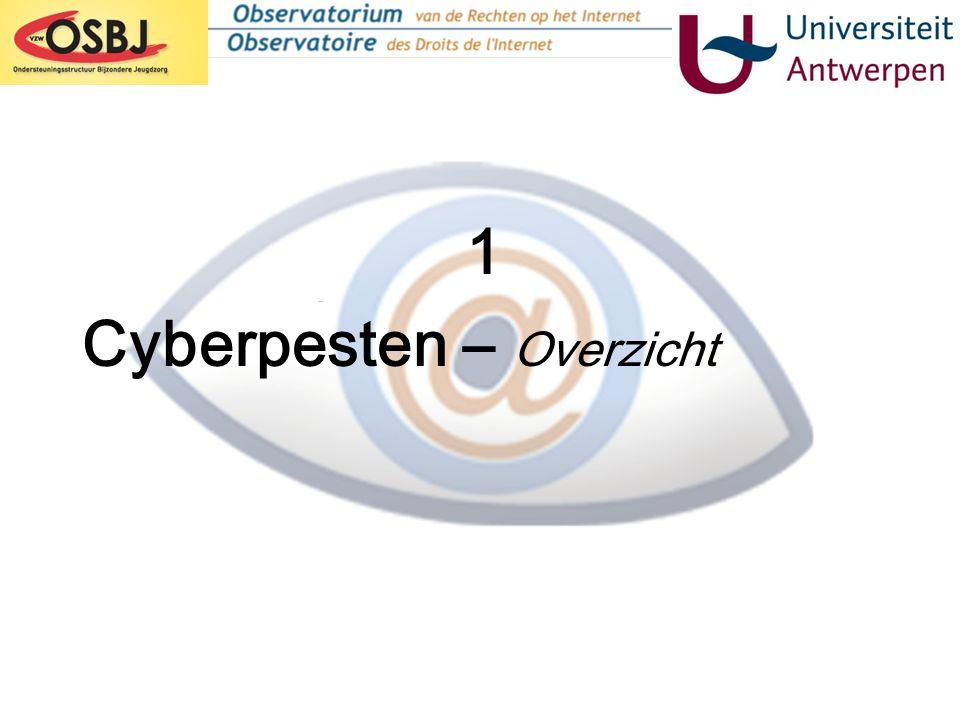 Gevolgen van cyberpesten (2): •Rechtstreeks voelbaar in de klascontext •Schadelijk voor alle partijen •Weekt kettingreacties los ('Cyberpestcultuur') Perceptie van cyberpesten: •Enorm verschil tussen perceptie slachtoffer en dader: wat dader als grappig bedoelt, heeft een eerder kwetsende uitwerking op het slachtoffer Reactie op cyberpesten.