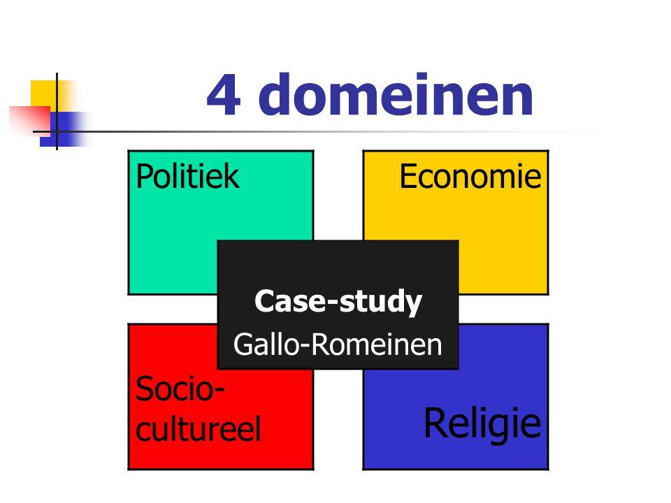 Het politieke domein BESLUIT  Veroverde volkeren oefenen invloed uit op Romeinen  Romanisering van veroverde volkeren  Keizers van niet-Romeinse afkomst  Het leger: soldaten, wapens