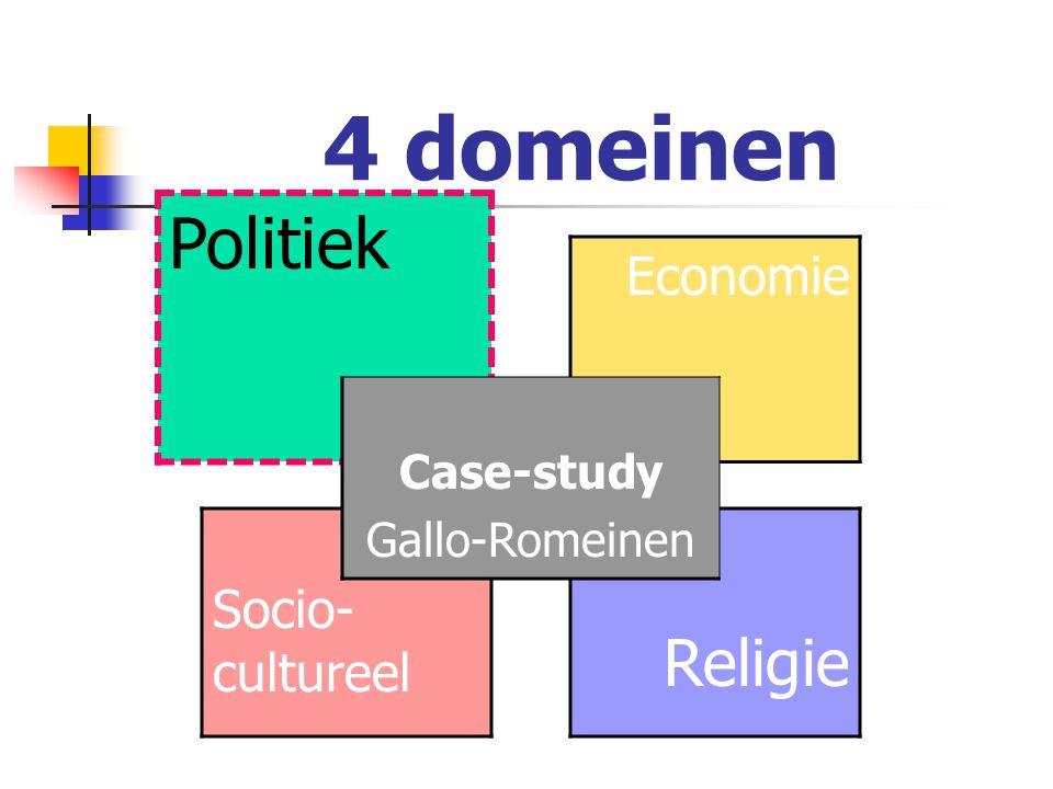 Case-study: Gallo-Romeinen Eenzijdige benadering in video: invloed Romeinen op Galliërs en Germanen  Aristocratische zonen leren Latijn  Villae en wijngaarden  Godsdienst  Romeinse cultuur  Eten en drinken  Aardewerk