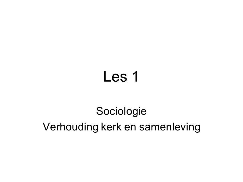 Les 1 Sociologie Verhouding kerk en samenleving