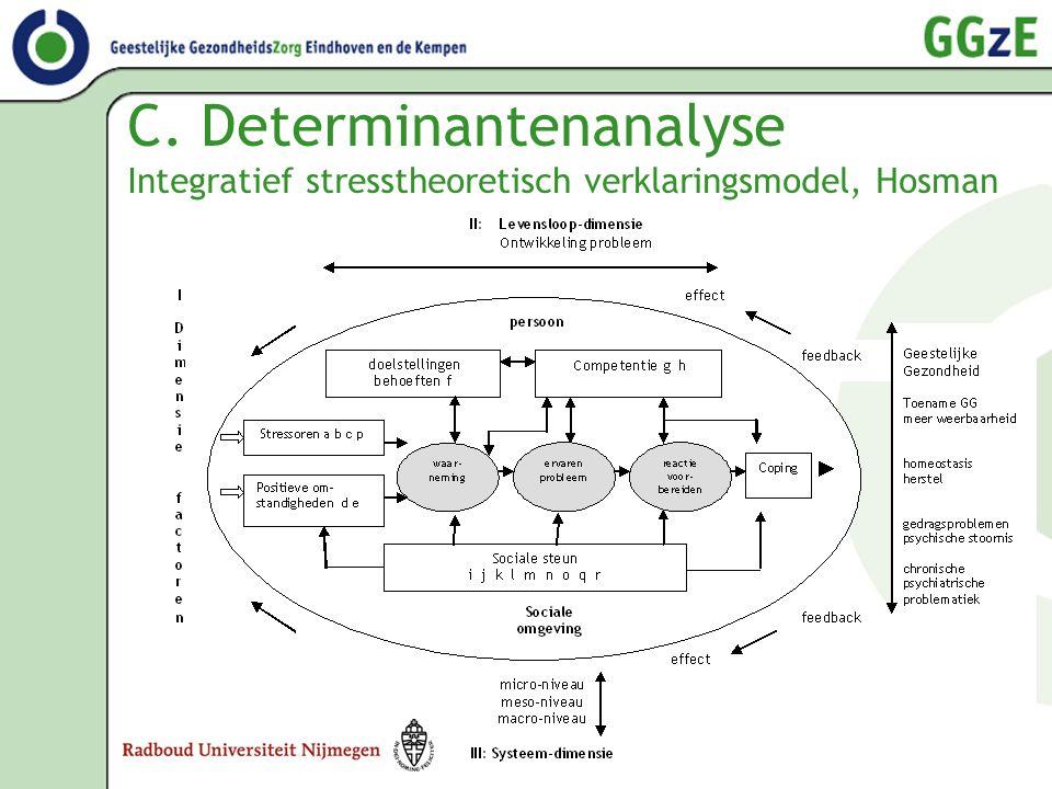 C. Determinantenanalyse Integratief stresstheoretisch verklaringsmodel, Hosman