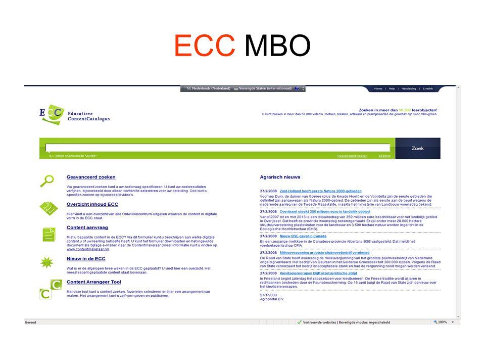 Zoeken in de ECC •ZoektipsZoektips •HandleidingHandleiding •CatalogusCatalogus •Content in de ECCContent in de ECC