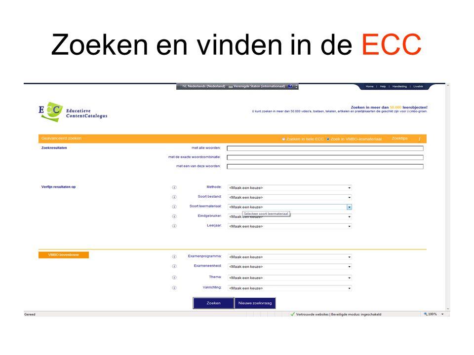 Zoeken en vinden in de ECC