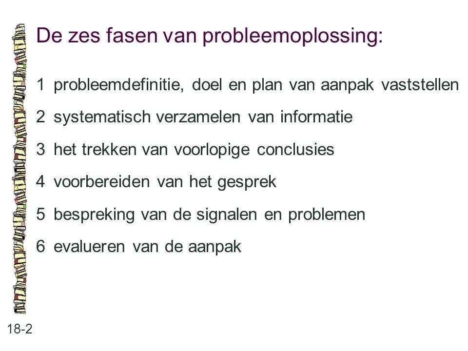 Probleemdefinitie, doel en plan van aanpak: 18-3 •probleemdefinitie •doel •de aanpak van problemen