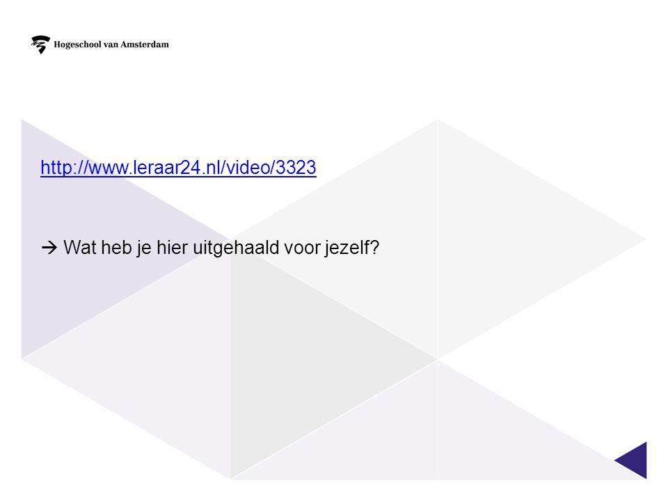 http://www.leraar24.nl/video/3323  Wat heb je hier uitgehaald voor jezelf?