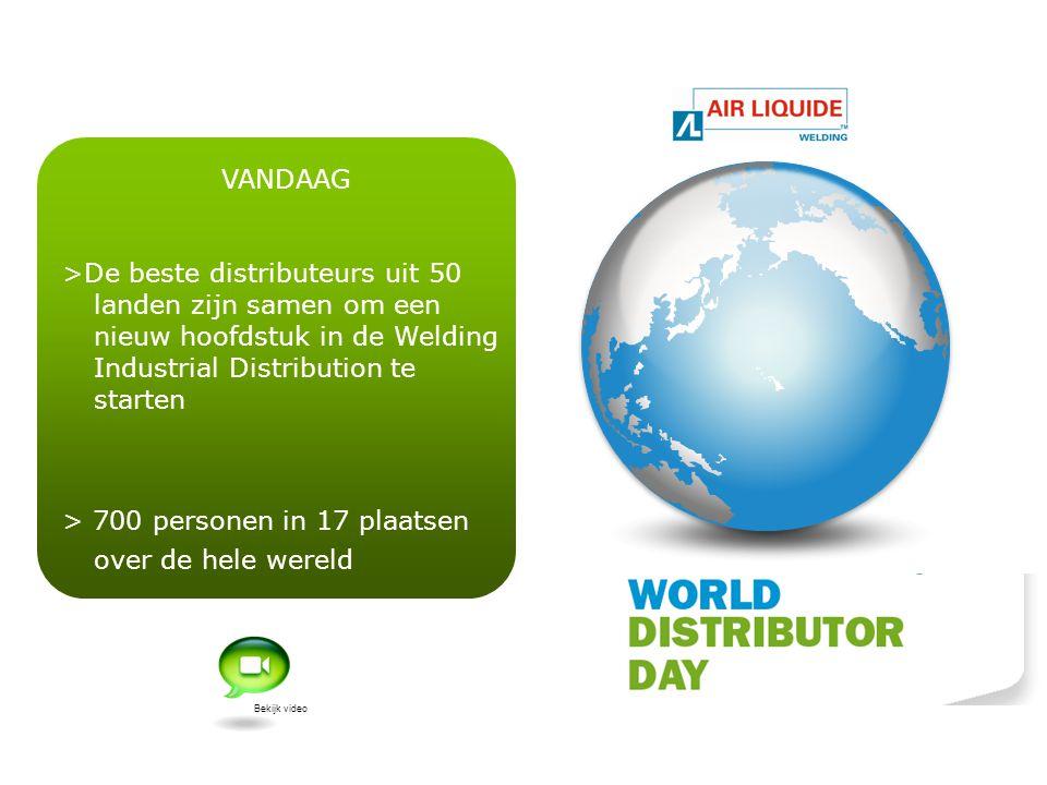 VANDAAG >De beste distributeurs uit 50 landen zijn samen om een nieuw hoofdstuk in de Welding Industrial Distribution te starten > 700 personen in 17