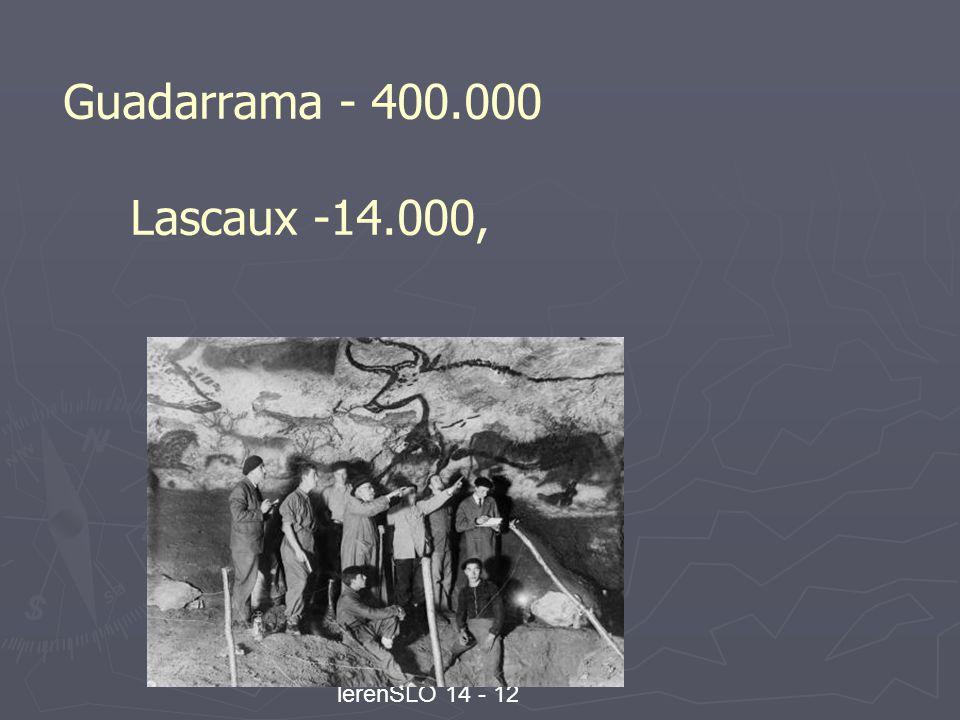 Wetenschap, techniek en lerenSLO 14 - 12 Guadarrama - 400.000 Lascaux -14.000,
