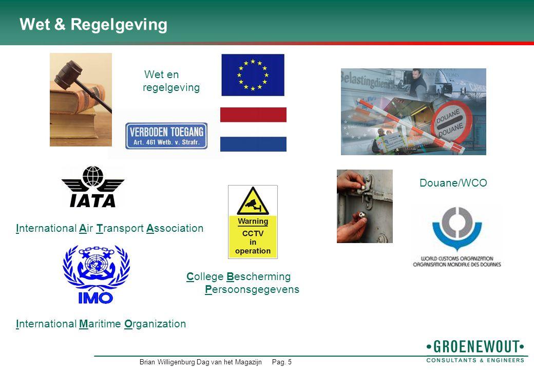 Brian Willigenburg Dag van het MagazijnPag. 6 Bedrijfsregels