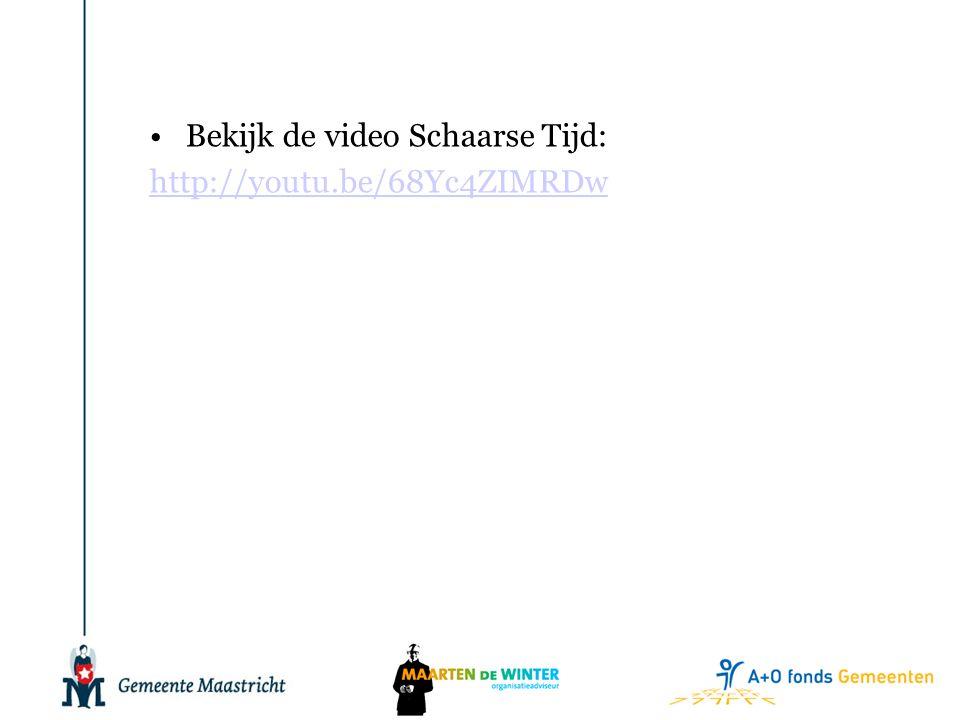 •Bekijk de video Schaarse Tijd: http://youtu.be/68Yc4ZIMRDw