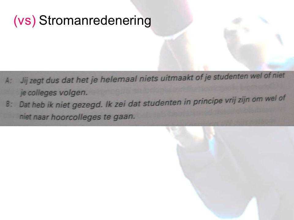 (vs) Stromanredenering
